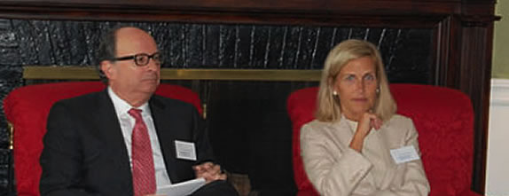 Robert D. Rosenthal, Chairman & CEO, and Gretchen Morgenson, Pulitzer Prize winner and New York Times columnist.
