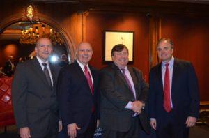 From left: Stephen Juchem, Charles Barragato, Raymond Kelly, and Lance Christensen