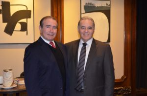 Lawrence Levy, Executive Dean, National Center for Suburban Studies (NCSS) at Hofstra University (left) and Ralph Palleschi, President and Chief and Operating Officer, First Long Island Investors (right)