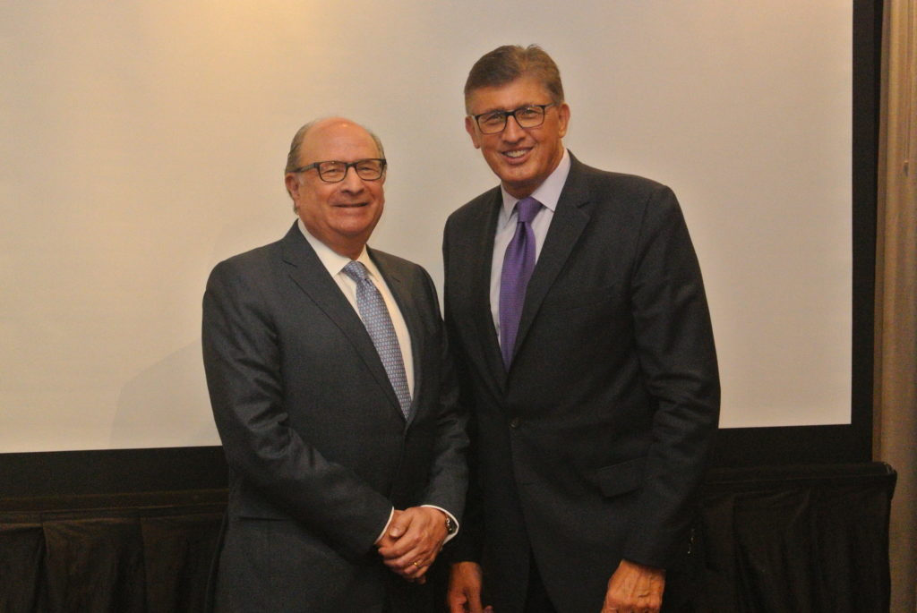 Robert D. Rosenthal, Chairman, CEO, and Chief Investment Officer of First Long Island Investors (left) and Dr. Richard Barakat,   Physician-in-Chief and Director of the Northwell Health Cancer Institute  (right)