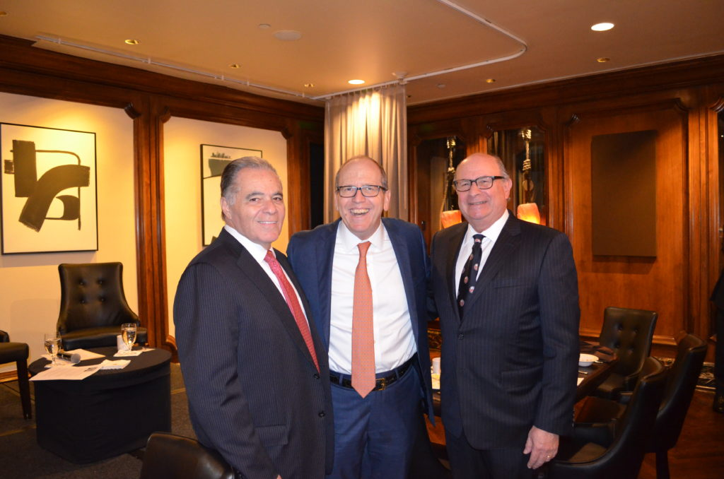 Photo of  Ralph F. Palleschi, President and COO of First Long Island Investors, Jon Ledecky, Co-Owner New York Islanders, and Robert D. Rosenthal, Chairman, CEO, and Chief Investment Officer of First Long Island Investors.
